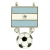 Pendant Flag With Halfdome Soccer With 2 Loops Argentina 34mm